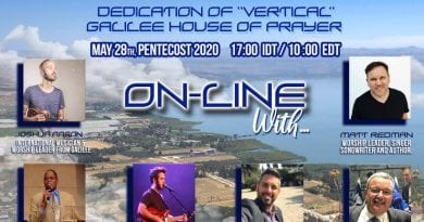 Today is the Online VERTICAL Galilee House of Prayer Dedication! – Aliyah Return Center