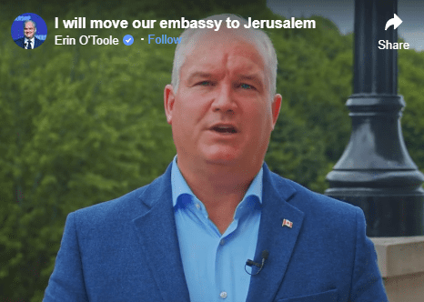 Canadian MP Vows to Move Embassy to Jerusalem if He Becomes Prime Minister